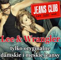 Firma Jeans Club Outlet Lee Wrangler Pisz